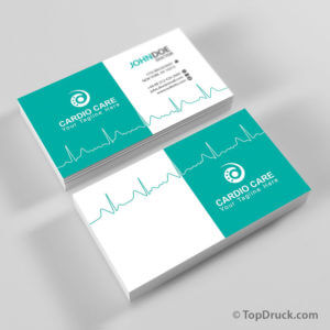 Cardio Care Visitenkarten Design