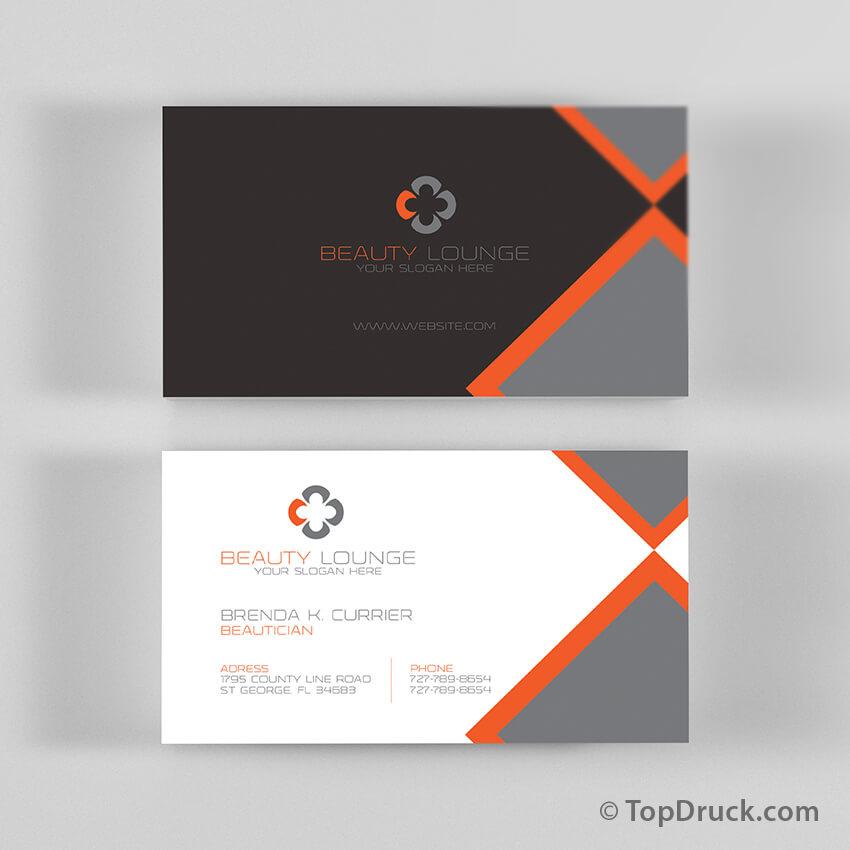 Beauty Lounge Visitenkarten Design Topdruck