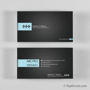 Micro Design Visitenkarten Design