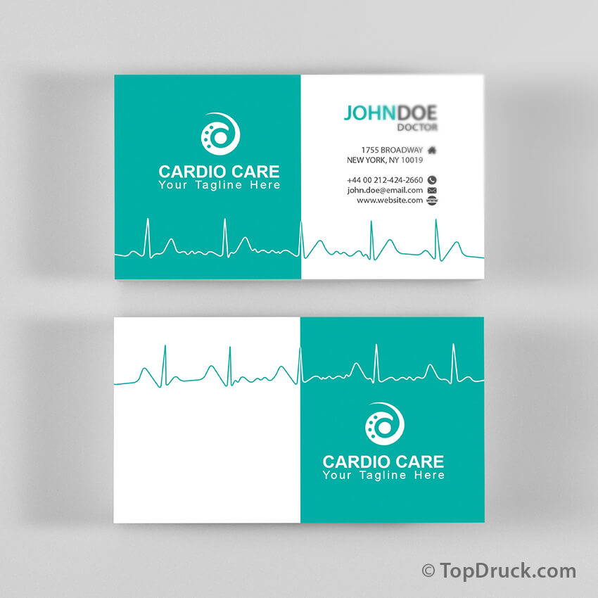 Cardio Care Visitenkarten Design Topdruck