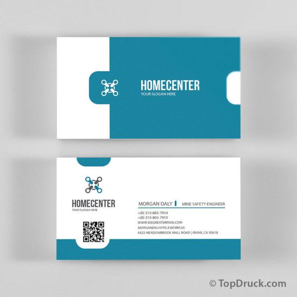 Clean Center Visitenkarten Design