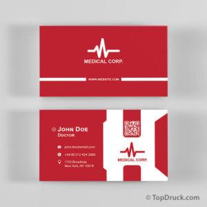 Medical Corporate Visitenkarten Design