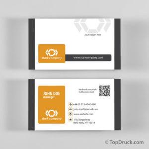 Stark Company Visitenkarten Design