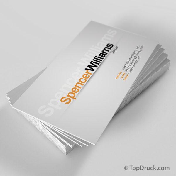 Blogger Visitenkarten Design