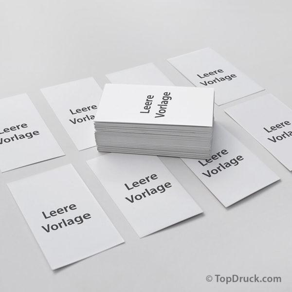 Visitenkarten hoch - leere Vorlage