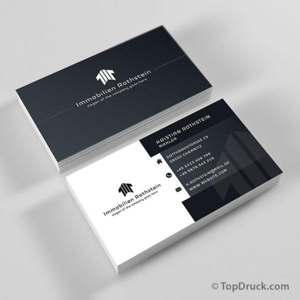 Immobilien Visitenkarten Design