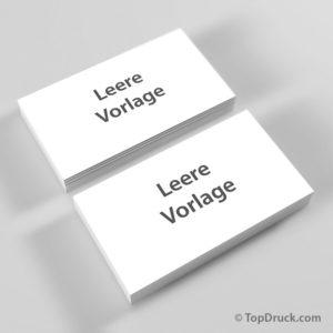 Visitenkarten quer - leere Vorlage