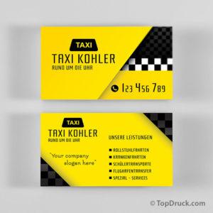 Taxi Visitenkarten Design