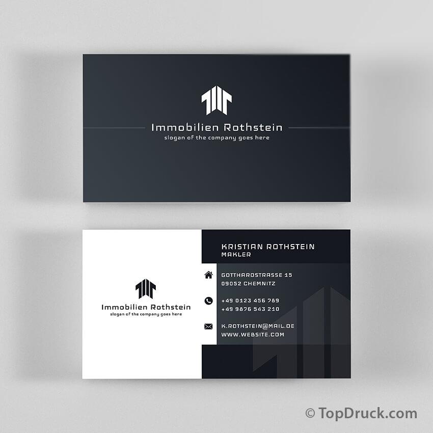Immobilien Visitenkarten Design Topdruck