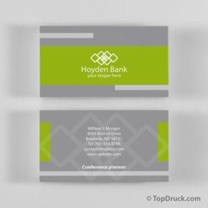 Hoyden Bank Visitenkarten Design