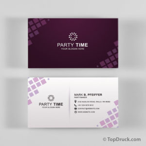Party Time Visitenkarten Design