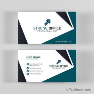 Bankkaufmann Visitenkarten Design