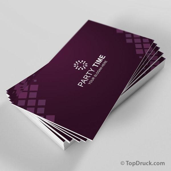 Party Time Visitenkarten Design