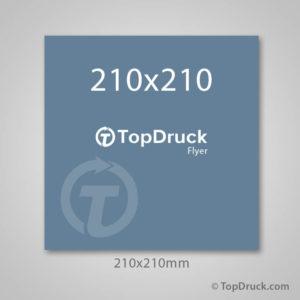 Quadrat 210x210mm