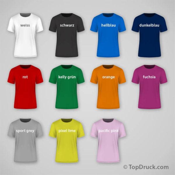 T-Shirt bedrucken alle Farben