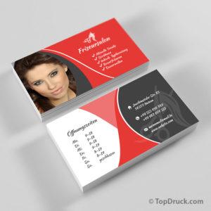 Friseursalon Visitenkarten Design