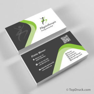 Physiotherapie Visitenkarten Design