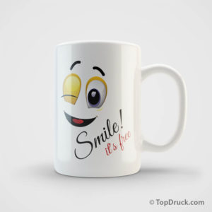 Tasse Smile bedrucken