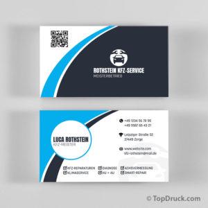 Autoreparatur Visitenkarten Design