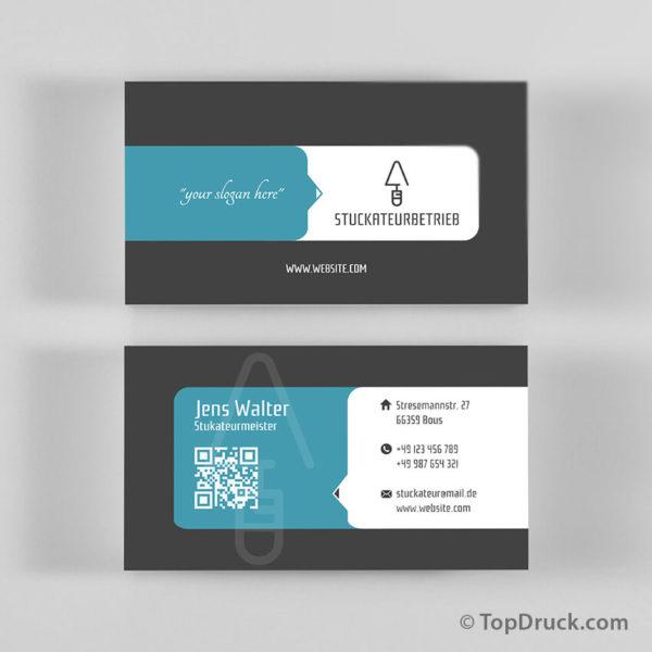 Stuckateur Visitenkarten Design