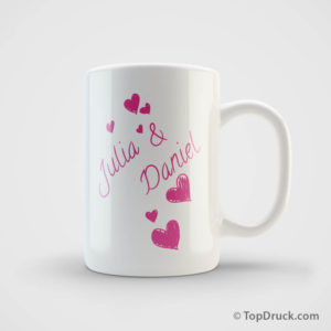 Tasse Liebespaar bedrucken