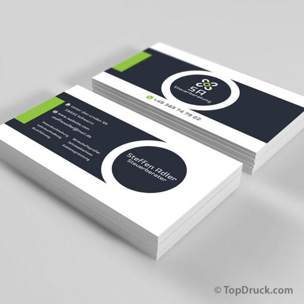 Steuerberater Visitenkarten Design