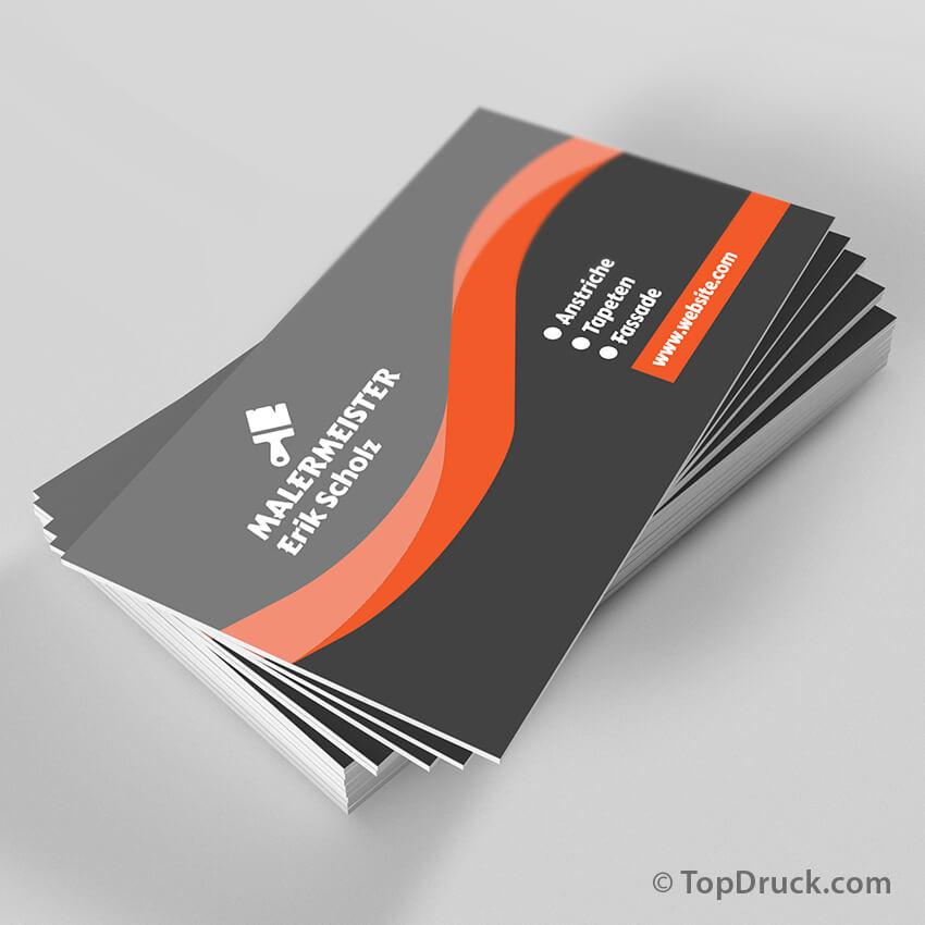 Malermeister Visitenkarten Design Topdruck