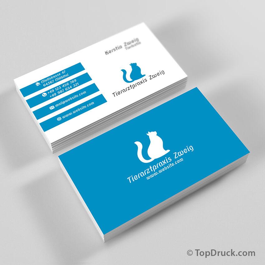 Tierarztpraxis Visitenkarten Design Topdruck