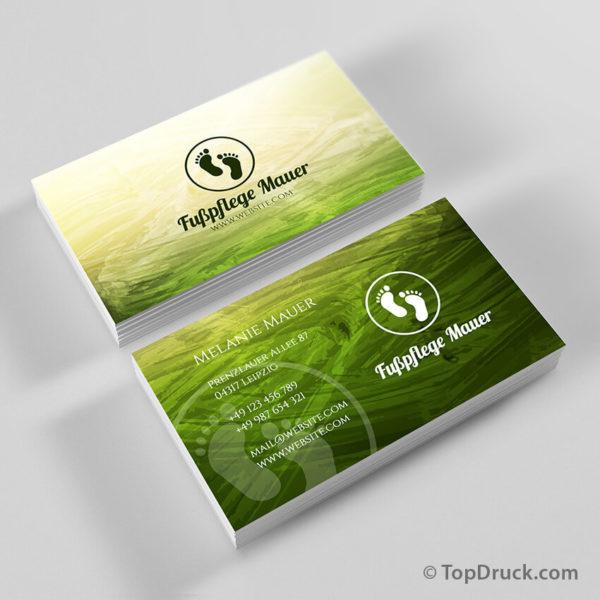 Fußpflege Visitenkarten Design