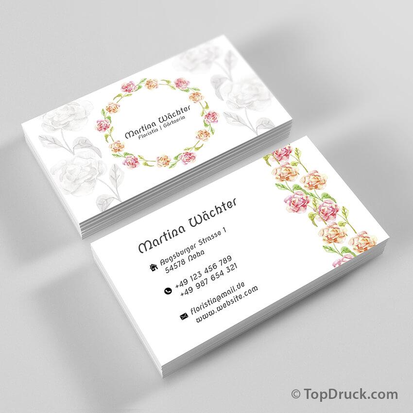 Florist Visitenkarten Design Topdruck