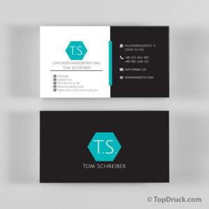 Unternehmensberatung Visitenkarten Design
