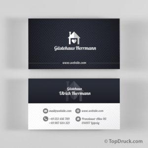 Gästehaus Visitenkarten Design