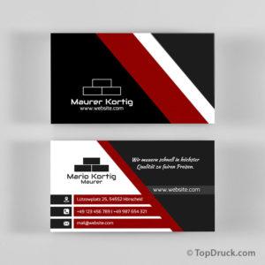 Maurer Visitenkarten Design