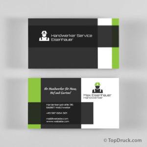 Handwerker Visitenkarten Design