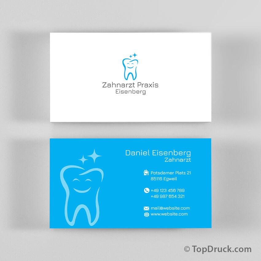 Zahnarzt Visitenkarten Design Topdruck