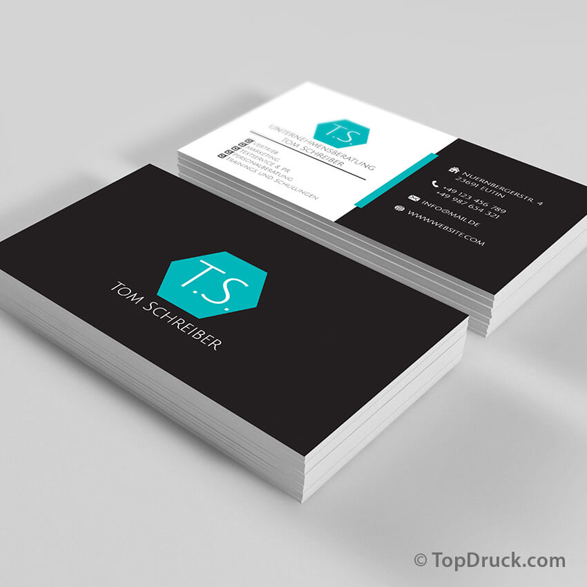 Unternehmensberatung Visitenkarten Design Topdruck