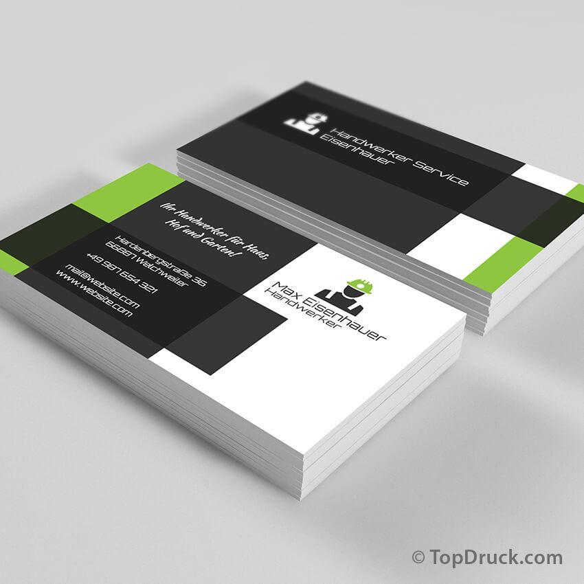 Handwerker Visitenkarten Design Topdruck