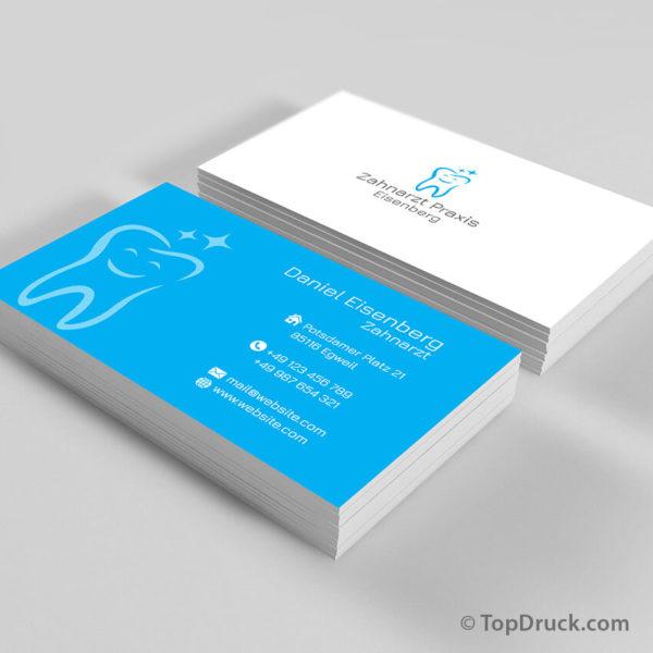 Zahnarzt Visitenkarten Design
