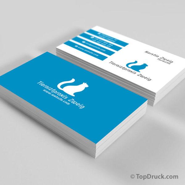 Tierarztpraxis Visitenkarten Design
