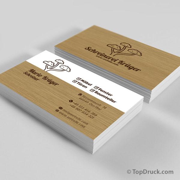 Schreiner Visitenkarten Design
