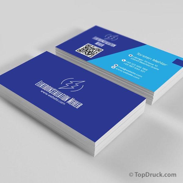 Elektroinstallation Visitenkarten Design