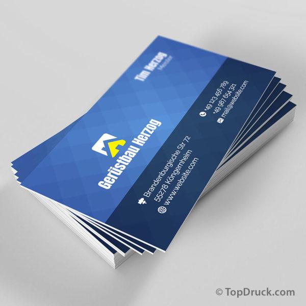 Gerüstbau Visitenkarten Design