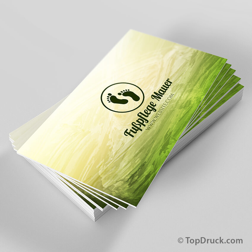 Fußpflege Visitenkarten Design Topdruck