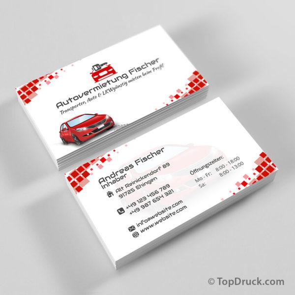 Autovermietung Visitenkarte