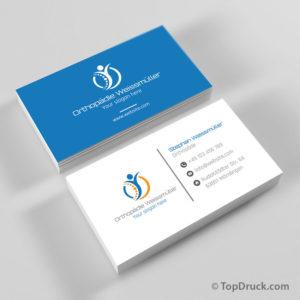 Physiotherapie Visitenkarten Design Topdruck