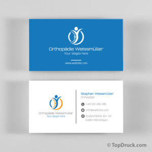 Orthopädie Visitenkarten Design