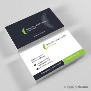 Psychologe Visitenkarten Design