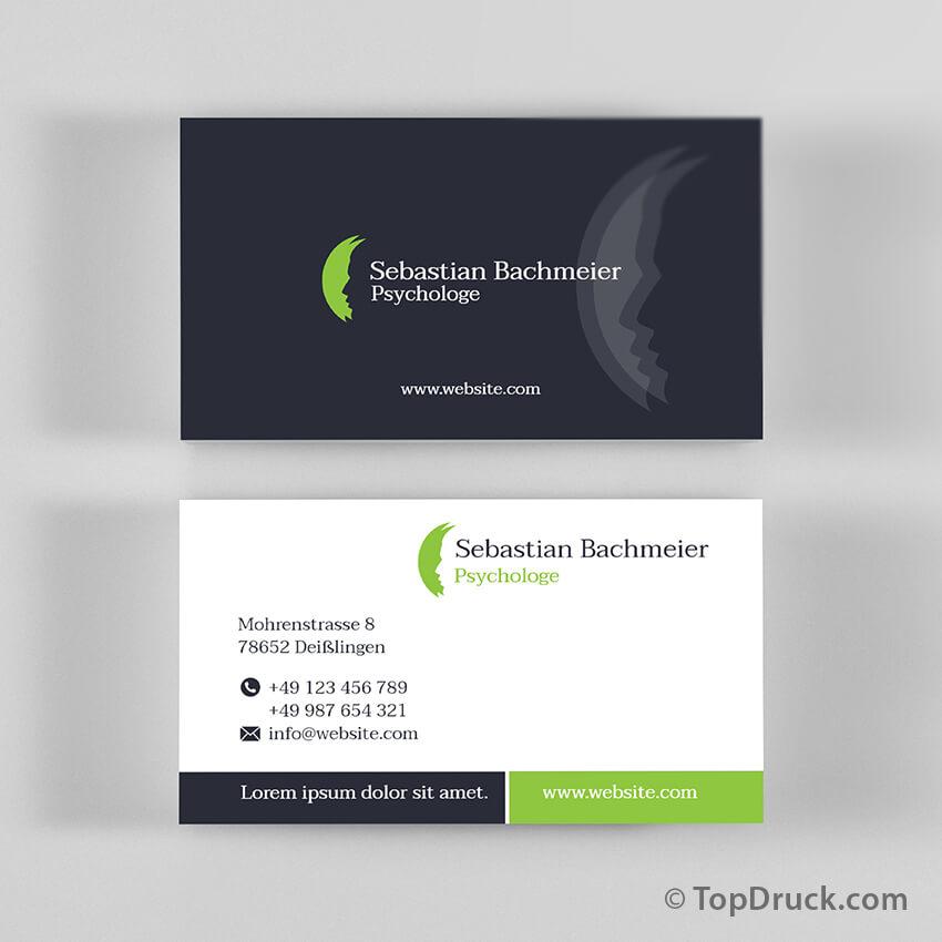 Psychologe Visitenkarten Design Topdruck