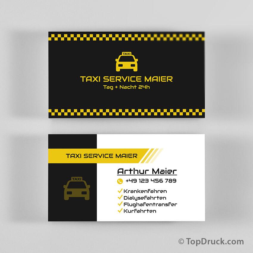 Taxi Service Visitenkarten Design Topdruck