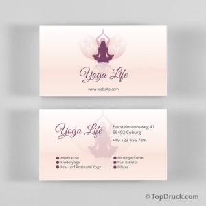 Yoga Visitenkarte